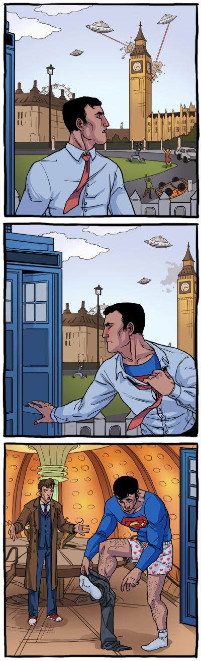 סופרמן בבריטניה (איורים: אביב אור)